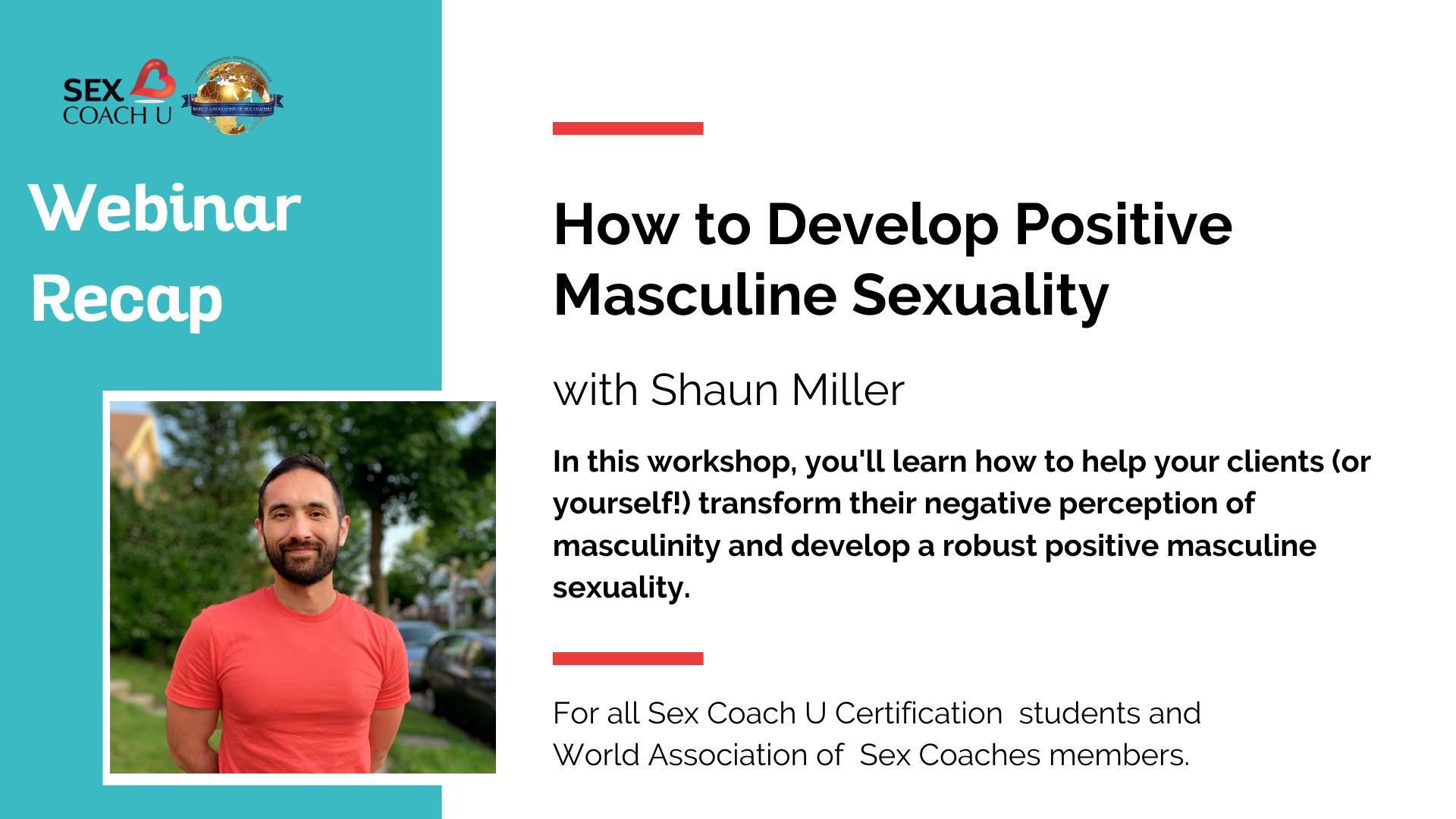 webinar graphic for shaun miller's positive masculinity