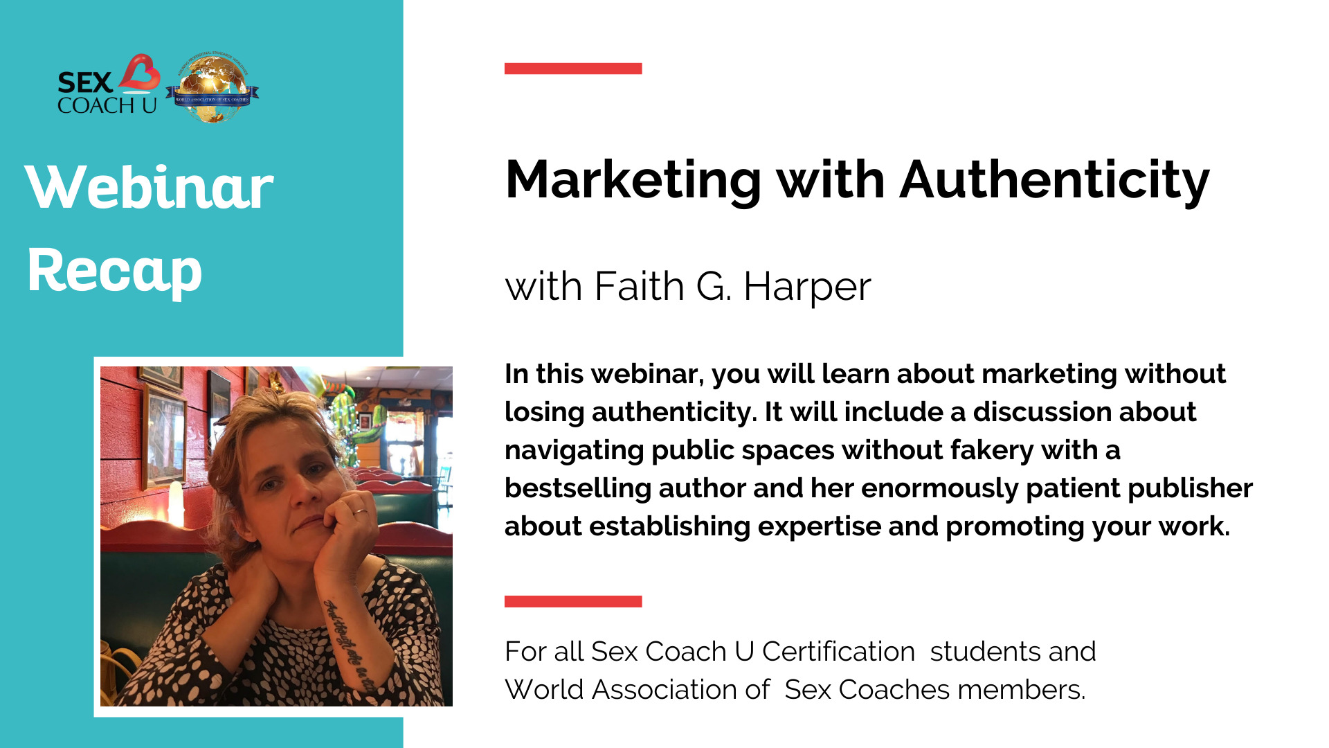 graphic describing the webinar marketing with authenticity