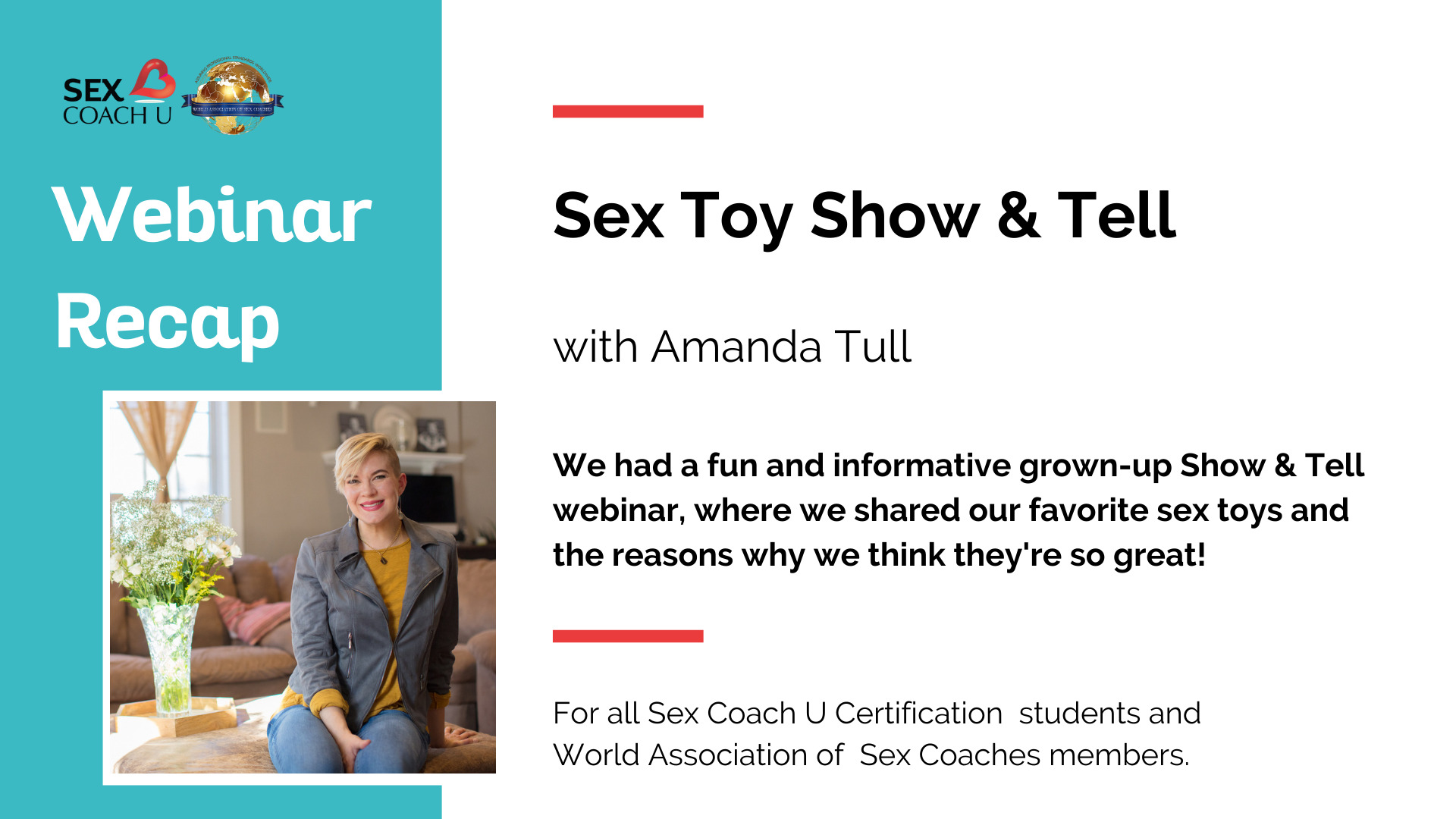 graphic depicting sex toy show and tell webinar