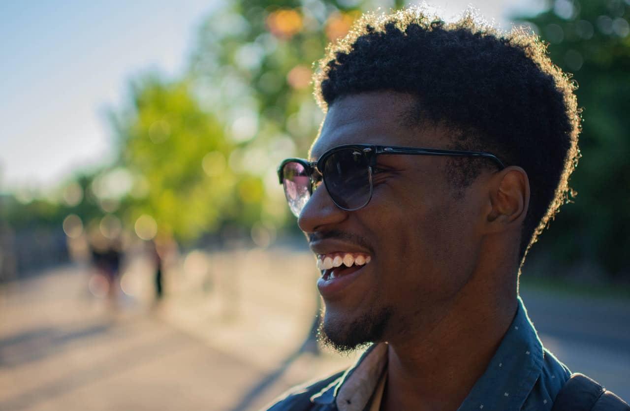 A man happy about sexual medicine